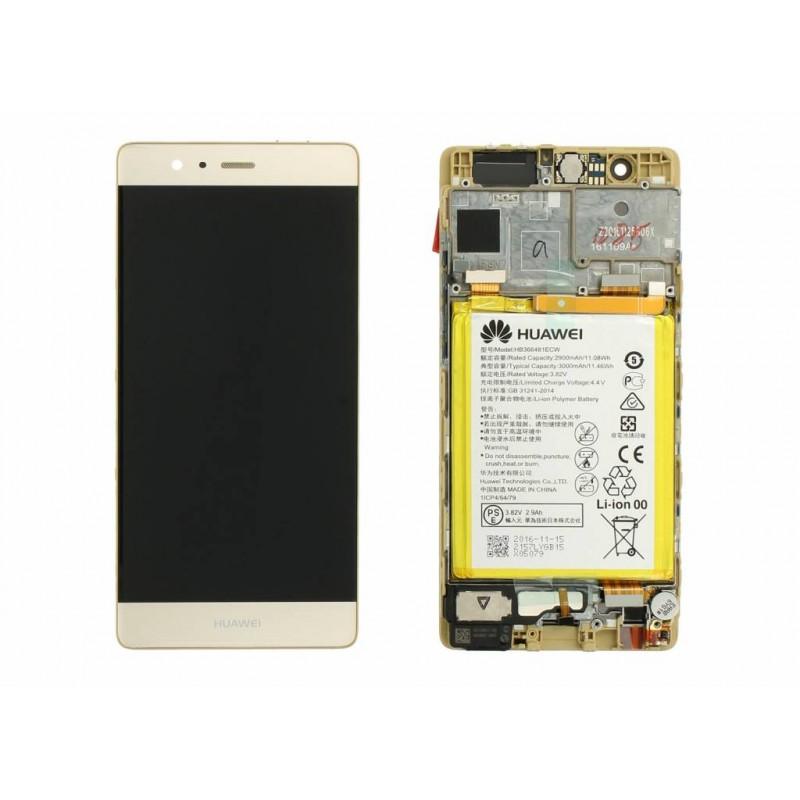 Écran complet P9 Huawei Gold 02350SHB