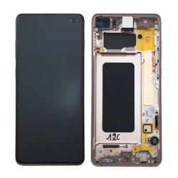 Écran complet S10+ G975F Samsung Ceramic White GH82-18849J