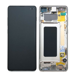 Écran complet S10+ G975F Samsung Prism White GH82-18849B